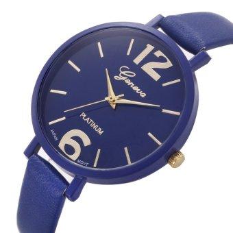 Geneva Jam Tangan Fashion Wanita Korea Tali Kecil - Blue Jam Tangan ... bdffd53a37
