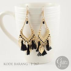 Glitzaksesoris - E-018 -  Anting Panjang Juntai tassel vintage bohemian