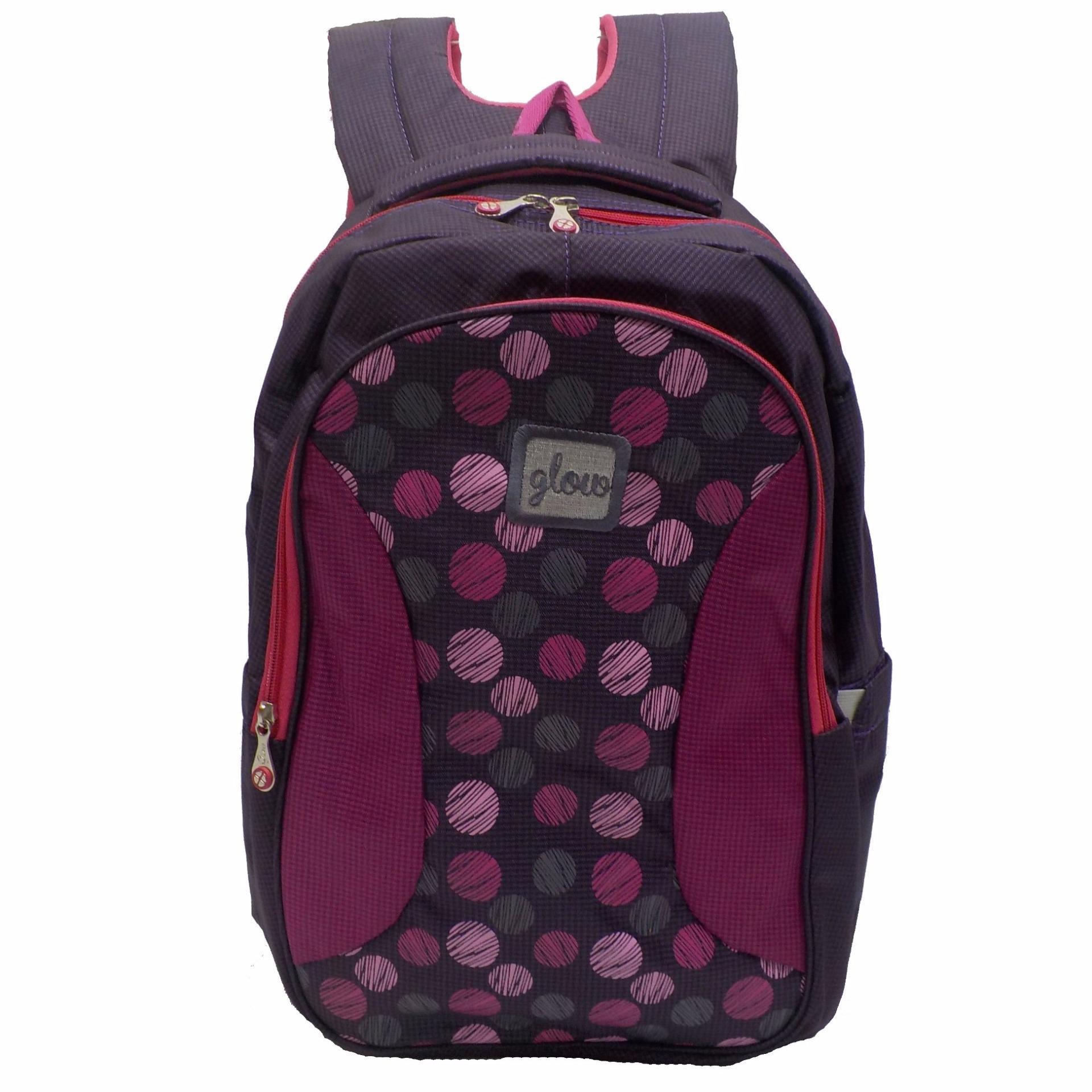 Glow Tas Ransel Laptop+Raincover sekolah Wanita 613114
