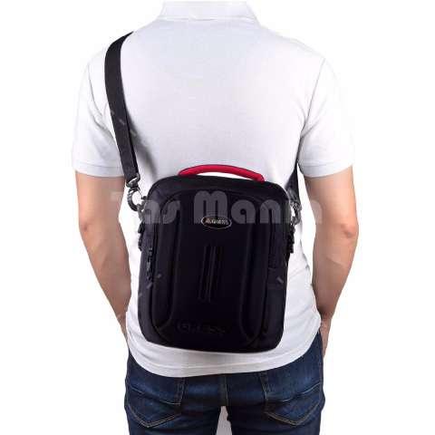 Gress Emboss Backpack Hitam Gratis Tas Selempang Black Knight 053
