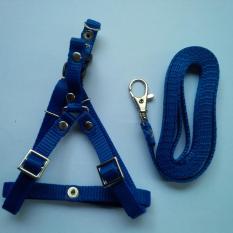 Harness Y uk S + Leash Biru Tua untuk Kucing, Kelinci, Musang, Puppy Small breed