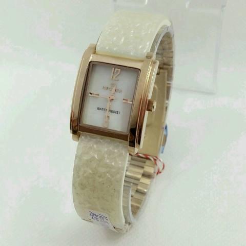 Hegner - HGR1616 White Rose Gold - Jam Tangan Fashion Wanita - Ceramic Strap