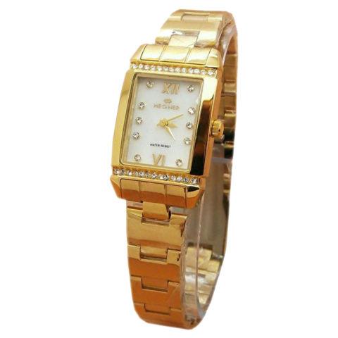 Hegner - Jam Tangan Wanita - Gold White - Stainless - H11282
