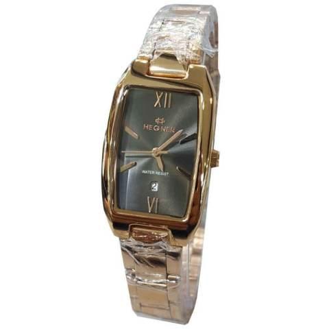 Hegner Tanggal HR11286LK Jam Tangan Wanita Stainless Steel Gold