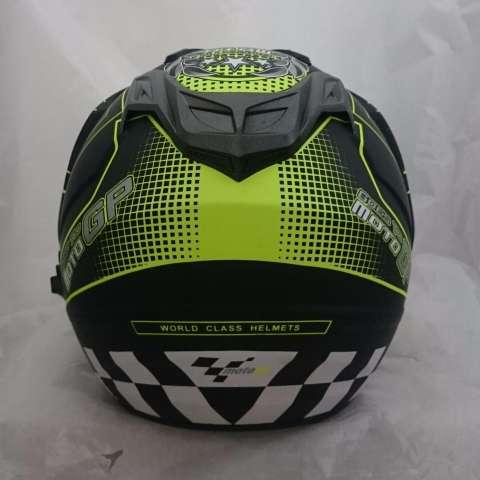 Helm 2 kaca (double visor) Moto Gp Black doff Yellow