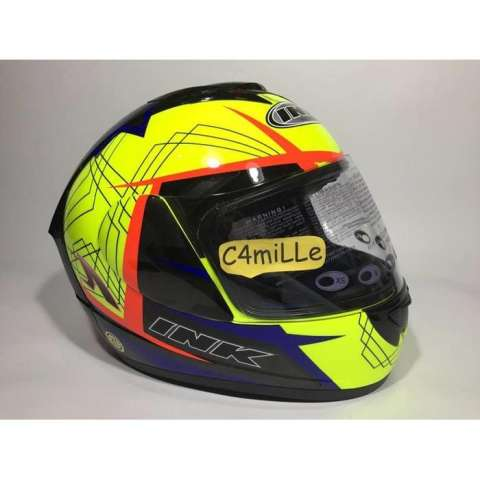 HELM INK CL MAX MOTIF 3 YELLOW FLUO ROYAL BLUE RED FLUO FULL FACE