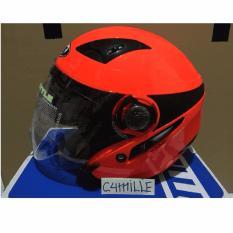 Helm MDS Double Visor Red Fluo Original / MDS Double Visor Helmet