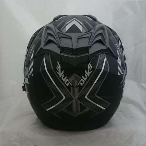 [Promo Best Seller] Helmet Double Visor Duke DMN Black Doff Abu Murah Kualitas Setara