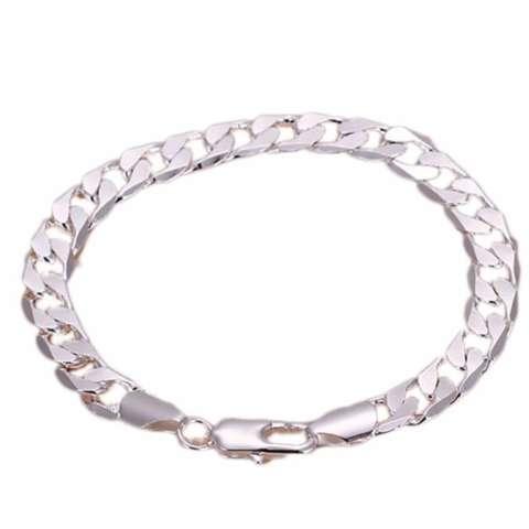 Hequ Sterling Silver Wanita Perhiasan Pesta Pernikahan Aksesoris Gelang & Bangles Hadiah Gaya Chic Baru Silver
