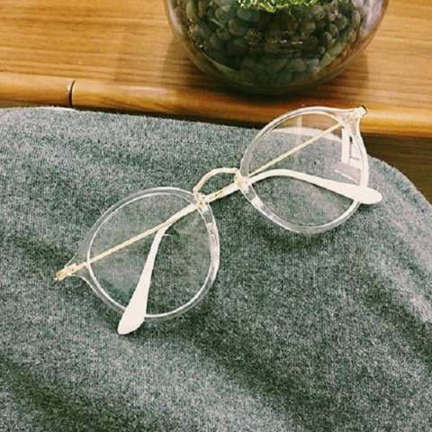 High Quality Charming Women's Round Clear Lens Glasses Metal Frame Nerd Eyeglass Spectacles 830CLEAR - Kacamata
