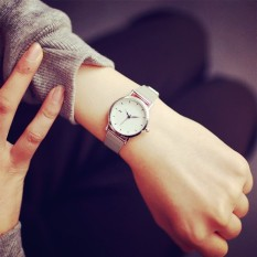 【Ice younger sister Ru's house 】simple chic in Korea revive old customs silvery metal Men's Watch - intl