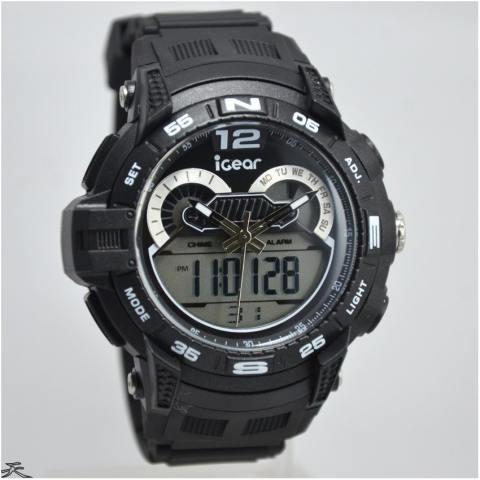iGear Dual Time - Jam Tangan Pria - Rubber Strap - iGear-i60B