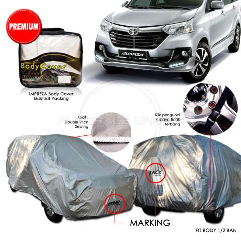 Impreza Body Cover Mobil Nissan X trail - Abu abu