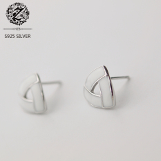 Indah S925 Tiga Kawat Cat Sterling Silver Anting