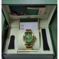 Jam Rolex-GMT Master Safic Automatic Full Set (Dial Hijau / Biru)