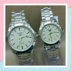 jam tangan couple formal rosegold-stanleis steel