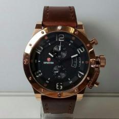 Jam tangan Expedition kulit original pria terbaru termurah elegan sporty kasual