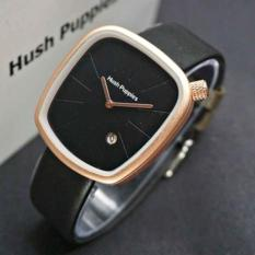 Jam Tangan Hush Puppies - Jam Tangan Wanita Hush Puppies Leather Strap Dengan Tanggal Aktif