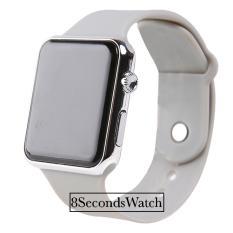 Jam Tangan LED - Jam Tangan Pria dan Wanita - Strap Karet - Apple_Grey (Steel)