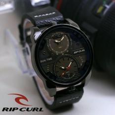 Jam tangan Pria Rcp 1109 ( Ripcurl ) Design Exclusif Leather Strap Dual Time