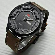 jam tangan quiksilver quicksilver kulit pria / jtr 939 choco brown