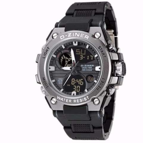 Home; Jam tangan sporty DZINER ORIGINAL 8139D-Rubber strap-Dual time-Elegan