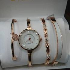 Jam Tangan Wanita BVLGARI Paket Gelang Rosegold Grade Super