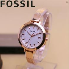 jam tangan wanita casual  -trendy-cantik Fossil [GC-Aigner-Fossil-QQ-Alba-hush-tetonis] - tanggal - stainless steel