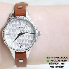 Jam Tangan Wanita ESPRIT Premium Tanggal Katif Tali Leather Kulit Dkny