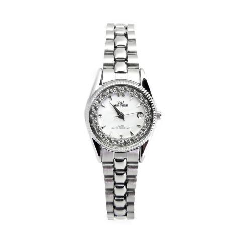 Jam Tangan Wanita Mirage Permata Original Silver Rx 1580Pp