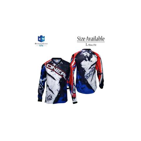 Baju Motor Source · Jersey Sepeda ONEAL Biru Merah Jersey Motor Cross .