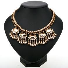 Jo. Di Lady Charm Wanita Alloy Chain Necklace Pendant (Emas)-Intl