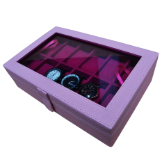 Jogja Craft Baby Pink Watch Box / Tempat Jam / Kotak Jam Tangan Isi 12