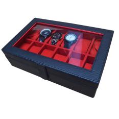 Jogja Craft Watch Box / Tempat Jam / Kotak Jam Tangan Isi 12 - Hitam-Merah