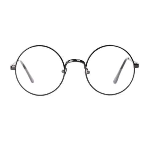 Retro Style Women Men Nerd Glasses Clear Lens Eyewear Round Metal Frame Glasses - intl.