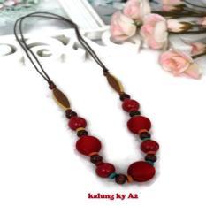Kalung Kerajinan Dari Bahan Kayu Asli dari Yogyakarta