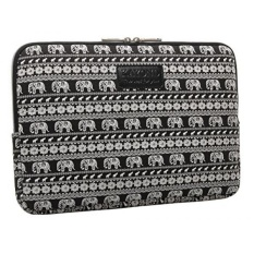 KAYOND Black Elephant Patterns Canvas Fabric 14 Inch Laptop /Sleeve Case Dell / Hp /Lenovo/sony/ Toshiba / Ausa / Acer /Samsung /Haier Ultrabook Bag Cover