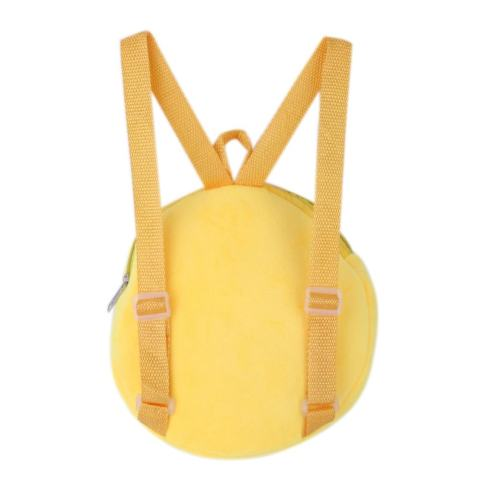 Kindergarten Children Round Emotion Kiss Peach Heart Embroidery Backpack(Yellow) - intl 2