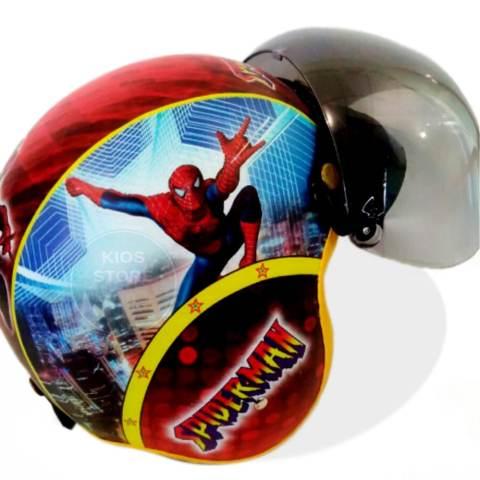 Kreasi Lokal - Helm Bogo Pilot Anak Usia 6 - 10 Tahun Figur Pilot Spiderman 1