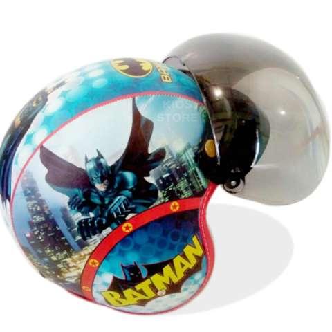 Kreasi Lokal - Helm Bogo Pilot Anak Usia 6 - 10 Tahun Motif Pilot Batman 1
