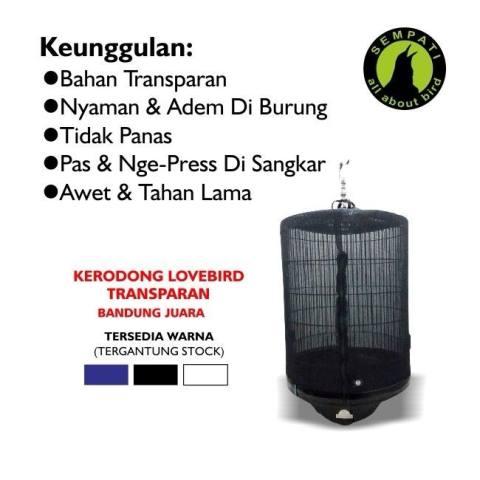 ... KAOS LOMBA LOVEBIRD SABLON ORIQ JAYA Sold Out. Source · Kerodong Krodong Sangkar Burung Murai Transparan No. 1 2 3 Bandung Juara
