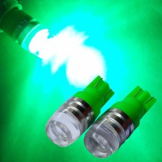 2 Biji Lampu Led Motor Mobil T10 5730 2 titik Senja Sein Proyektor Concave Arsystore ARSY - Hijau