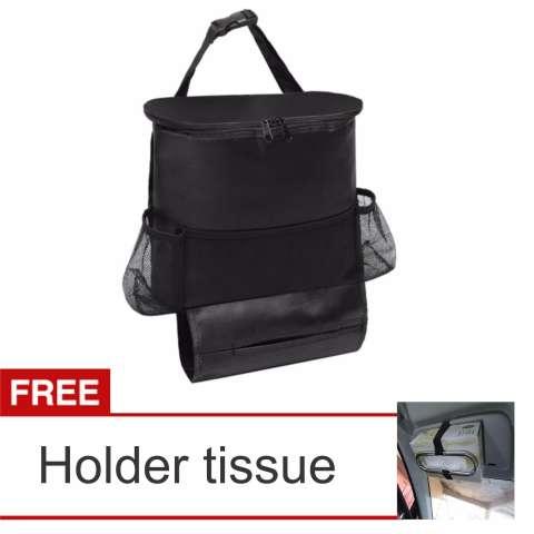 Lanjarjaya Car Seat Organizer Holder Travel Storage cooling Hanging Bag + Holder Tissue