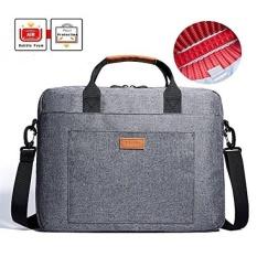 Tas Laptop, Kalidi 17.3 Inch Notebook Briefcase Tas Selempang untuk Dell Alienware/MacBook/Lenovo/hp, Bepergian, Bisnis, Kuliah dan Kantor Abu-abu Bh003l-Intl