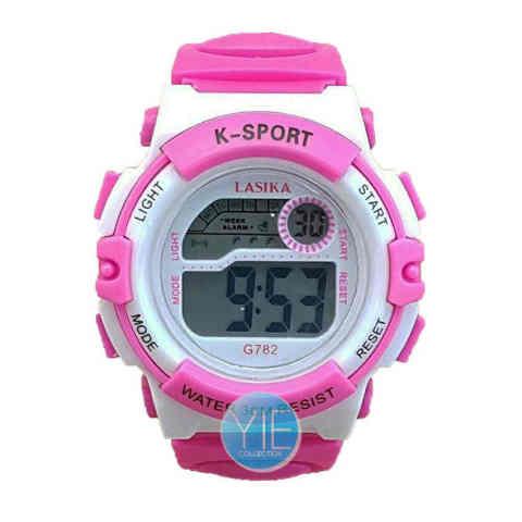Lasika Jam Tangan Anak Anti Air WFoc 8 2 - Pink