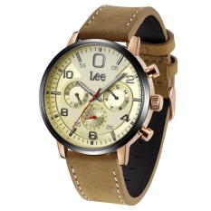 Lee Watch M126ABL5-9B Jam Tangan Pria Lee Metropolitan Gents Kulit Cokelat