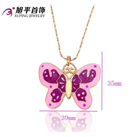 Liontin Xuping Butterfly Pink 18K Gold Color