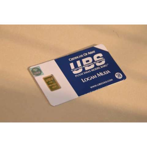 Emas Batangan Ubs 1 Gram Fine Gold 999 9percent Bersegel Hologram