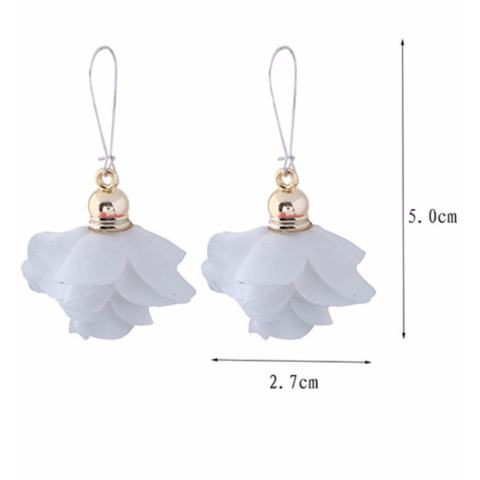 LRC Anting Gantung Fashion Flower Shape Decorated Earrings
