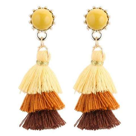 LRC Anting Tusuk Fashion Tassel Decorated Earrings